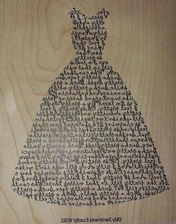 My Sentiments Exactly! Unmounted Rubber Stamp W362 Dress Sen