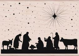 Hero Arts Nativity Woodblock Stamp