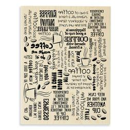 New Arrival Stampendous Coffee Background Rubber Stamp