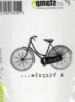 New Carabelle Studio Cling Rubber Stamp A BICYCLE free usa s
