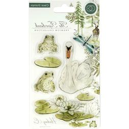 new clear cling rubber stamp set riverbank