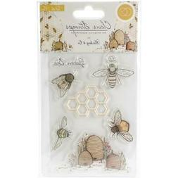 New Craft Consortium Clear cling Rubber Stamp set TELL THE B