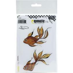 New Carabelle Studio Cling Rubber Stamp FISHES set  A6 By So