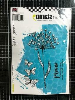New Carabelle Studio Cling Rubber Stamp FLOWER LOVING THOUGH
