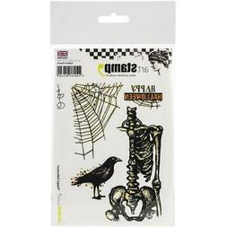New Carabelle Studio Cling Rubber Stamp HAPPY HALLOWEEN SET