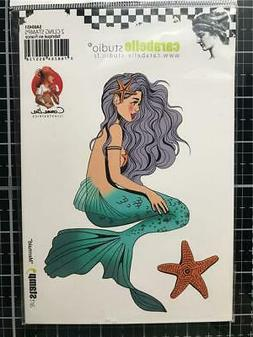 New Carabelle Studio Cling Rubber Stamp MERMAID SET OF 2 fre