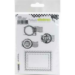 New Carabelle Studio Cling Rubber Stamp SET POSTMARKS MY STA