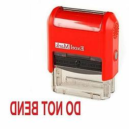 NEW ExcelMark DO NOT BEND Self Inking Rubber Stamp 55039 | R