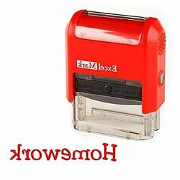 NEW ExcelMark HOMEWORK Self Inking Teacher Rubber Stamp | Re