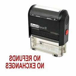 NEW ExcelMark NO REFUNDS NO EXCHANGES Self Inking Rubber Sta