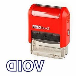 NEW ExcelMark VOID Self Inking Rubber Stamp | Red and Blue I