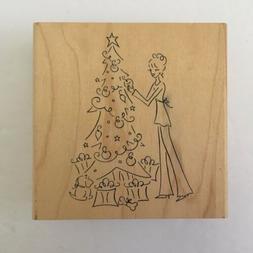 New Denami Design Holiday Girl Decorating Christmas Tree Gif