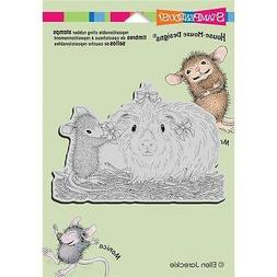 New Stampendous HOUSE MOUSE RUBBER STAMP cling PRETTY GUINEA