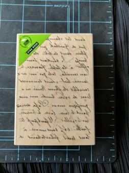 NEW!!! Hero Arts La Letter Writing Background K5344 Wood Rub