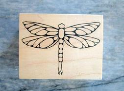 New LARGE DRAGONFLY Rubber Stamp Outlines Emboss Fill with C