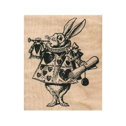 NEW March Hare RUBBER STAMP, Alice in Wonderland, Rabbit Sta
