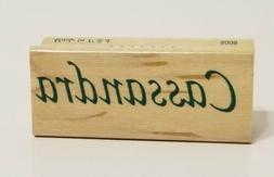New Inkadinkado Name Stamp CASSANDRA Rubber Ink Stamper Wood