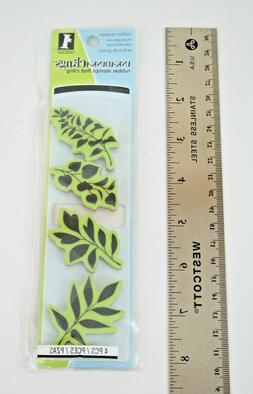 New Inkadinkado Rubber Cling Stamp Set, Leaves, 4 Pieces
