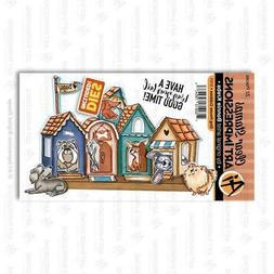 New Art Impressions Rubber Stamp & Die set CUBBIES DOG HOUSE