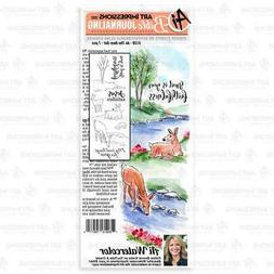 New ART IMPRESSIONS RUBBER STAMP BIBLE JOURNALING WATERCOLOR