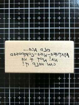 New Art Impressions rubber stamp Birthday Old Age hah! Free