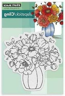 New Penny Black Rubber Stamp CENTERPIECE flowers spring Free