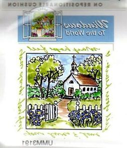 New ART IMPRESSIONS Rubber Stamp CHAPEL CHURCH  Windows to t