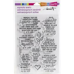 New stampendous RUBBER STAMP clear Acrylic BIBLE VERSES SET