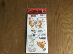 New ART IMPRESSIONS Rubber Stamp clear cling set SPRING CHIC