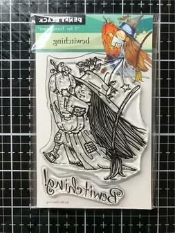 New Penny Black RUBBER STAMP clear HALLOWEEN BEWITCHING clea