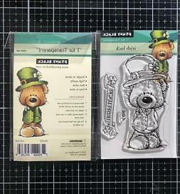New Penny Black RUBBER STAMP clear IRISH LUCK SET ST PATRICK