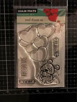 New Penny Black RUBBER STAMP clear Valentines SO MUCH LOVE F
