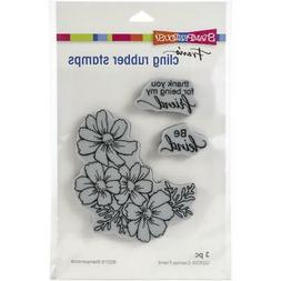 New Stampendous RUBBER STAMP cling COSMOS FRIEND SET Free US