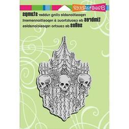 New Stampendous RUBBER STAMP cling Halloween CHANDELIER SKUL