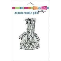new rubber stamp cling halloween haunted tree