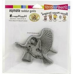 New Stampendous Rubber Stamp cling House Mouse CARDINAL BELL