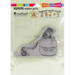 New Stampendous RUBBER STAMP cling House Mouse FEEDING BABY
