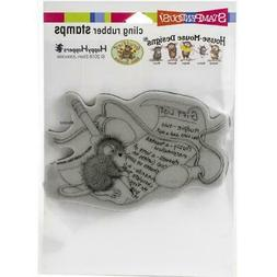 New Stampendous Rubber Stamp cling House Mouse LIGHT NOTE GI