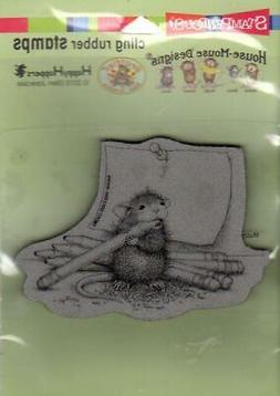 New Stampendous Rubber Stamp cling House Mouse PENCIL SHARPE