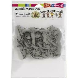 New Stampendous RUBBER STAMP cling House Mouse STRINGING BER