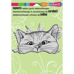 New Stampendous RUBBER STAMP cling NOSY CAT KITTY free usa s