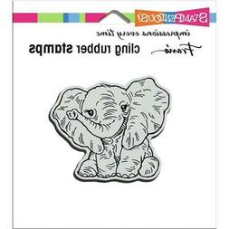 New Stampendous RUBBER STAMP cling PETITE PACHYDERM ELEPHANT