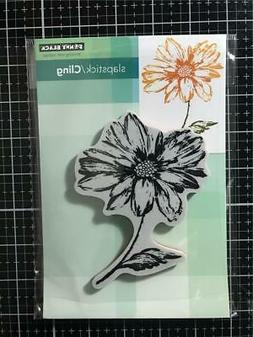 New Penny Black Rubber Stamp Cling RADIANT FLOWERS Free USA