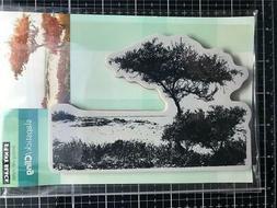 New Penny Black Rubber Stamp ESCAPE BEACH DUNES SCENIC free