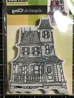 New Penny Black Rubber Stamp HALLOWEEN HAUNTED HOUSE free US