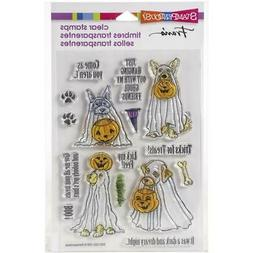 New Stampendous Rubber Stamp HALLOWEEN LICK MY FEET DOGS fre