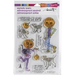 New Stampendous Rubber Stamp HALLOWEEN PUMPKIN PEOPLE free U