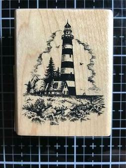 new rubber stamp lighthouse scenic seascape free