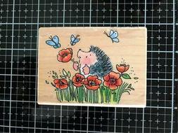 New Penny Black Rubber Stamp POPPY FIELDS M SHERRY  wood mou