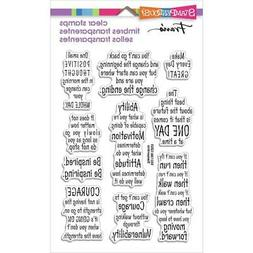 New Stampendous Rubber Stamp set clear Acrylic COURAGE QUOTE